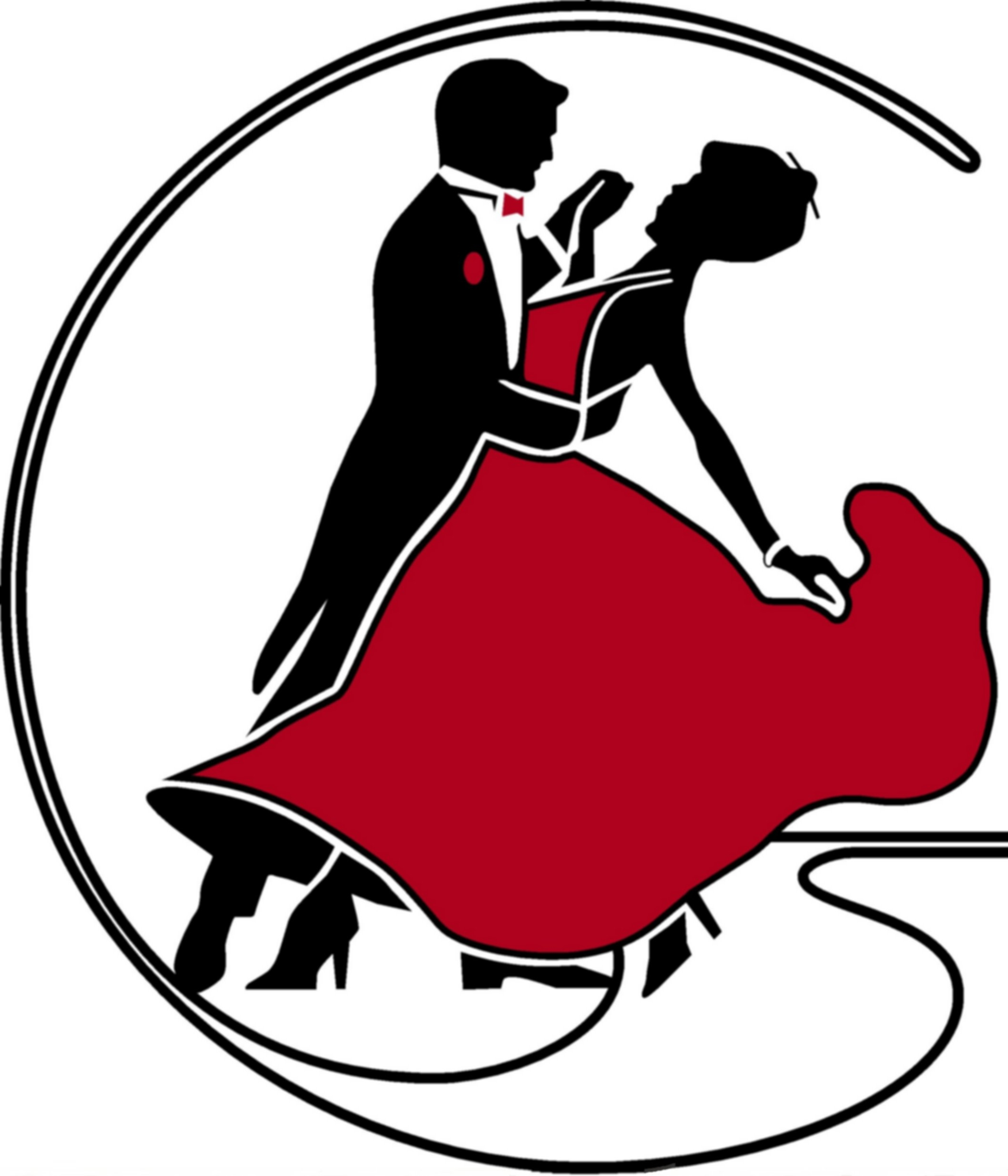 Dancer clipart ballroom dance. Silhouette dancers at getdrawings