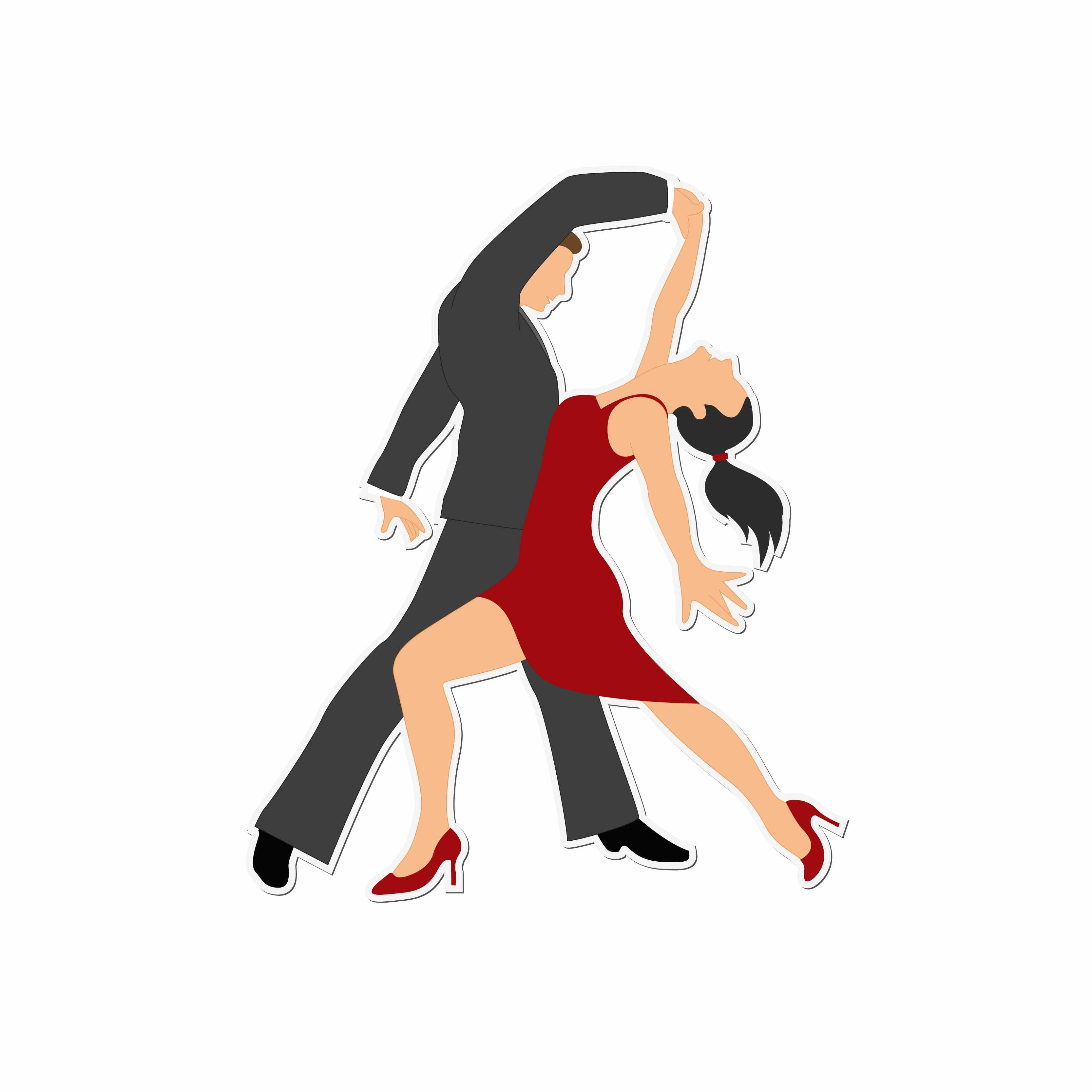 Swing dancing silhouette at. Dancer clipart ballroom dance free