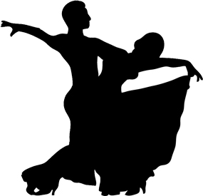 Ballroom culminating performance our. Dancing clipart easy banner black and white stock