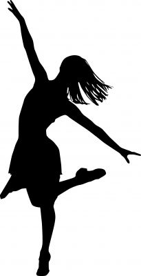 Dancer clipart black and white. Free dance clip art