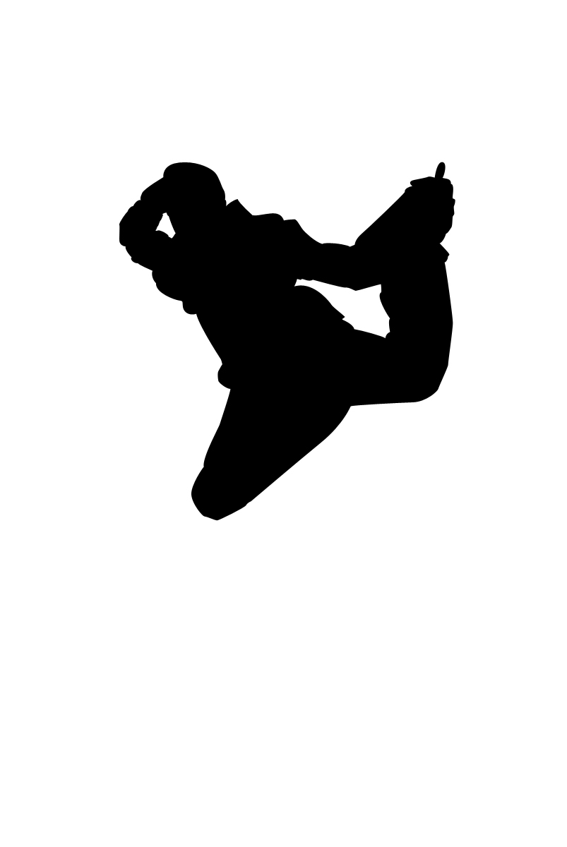 Dancer clipart break dancing. Dance silhouette at getdrawings