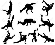 Dancer clipart break dancing. Silhouettes dance silhouette hip