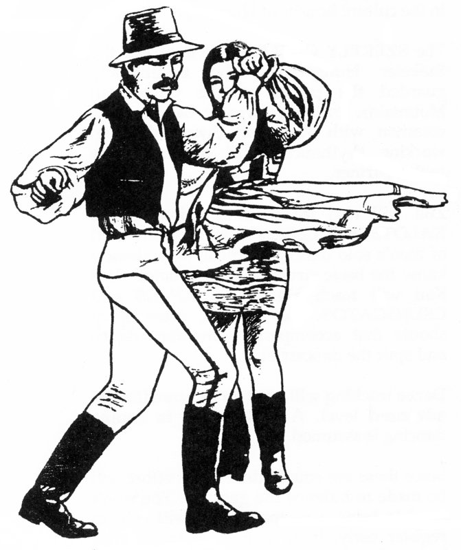 Dancer clipart hungarian. Line dance drawing at