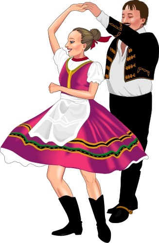 Dancer clipart hungarian. Dancers tradition panda free