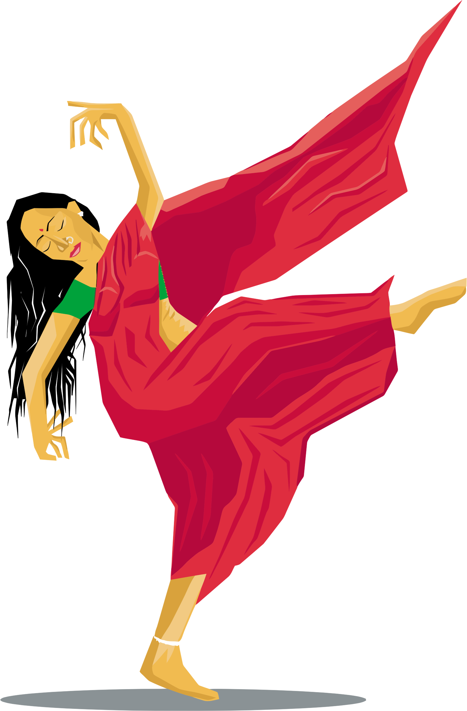 Indian lady big image. Dancing clipart png png library stock