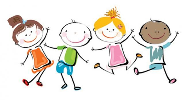 Dancing clipart children's. Children at getdrawings com