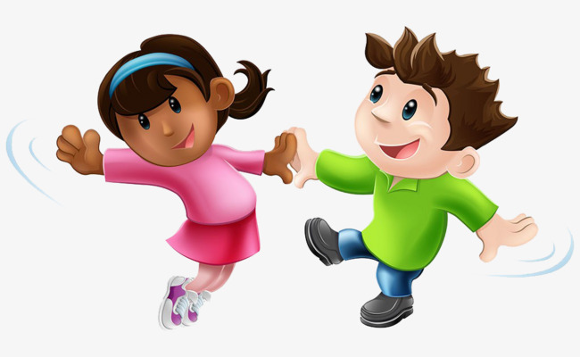 Two children dance child. Dancing clipart children's banner
