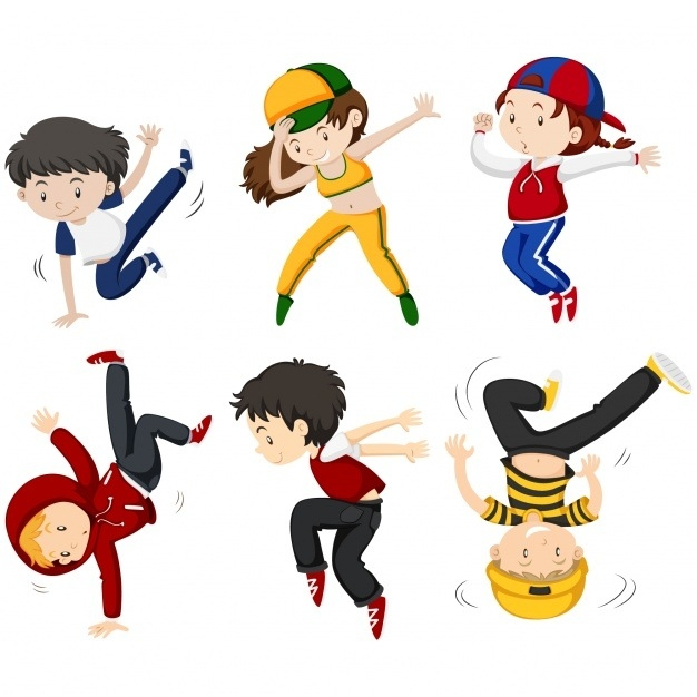 Dancing clipart dance class. Kids hip hop kind