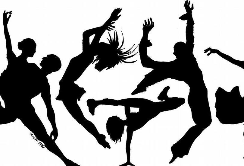 Guide to adult circus. Dancing clipart dance class svg black and white stock