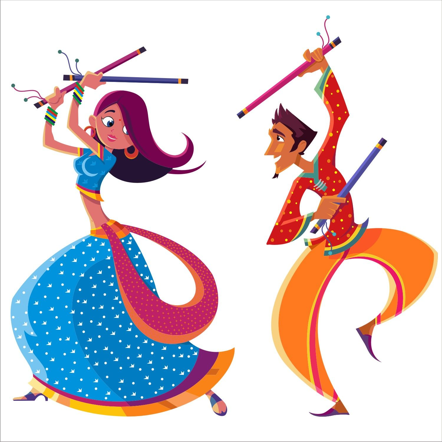 The spirit of dandiya. Dancing clipart easy svg royalty free