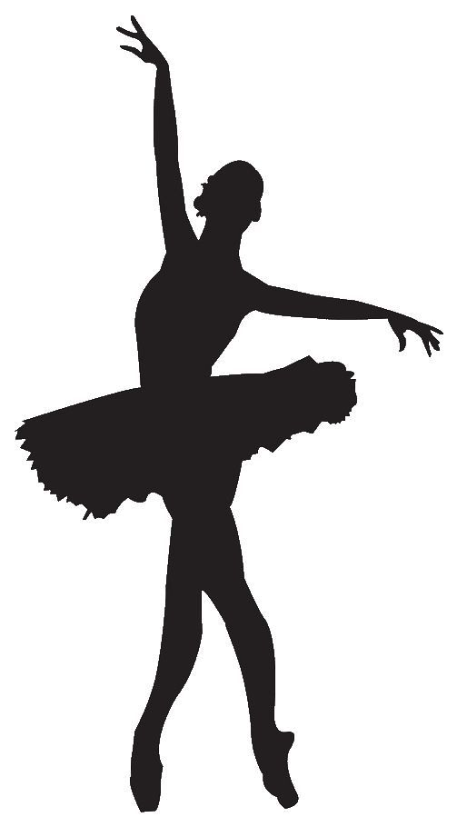 Ballet dancer silhouette panda. Dancing clipart easy banner freeuse stock