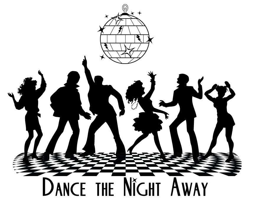 Dancing clipart homecoming dance. The night away comet