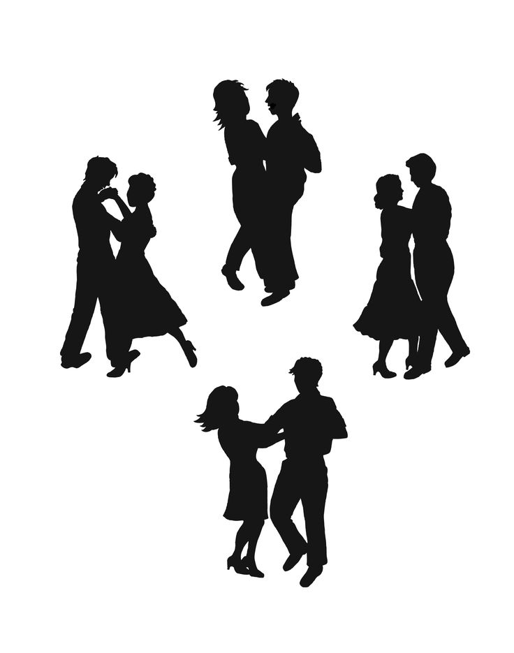 best music silhouettes. Dancing clipart homecoming dance vector black and white library