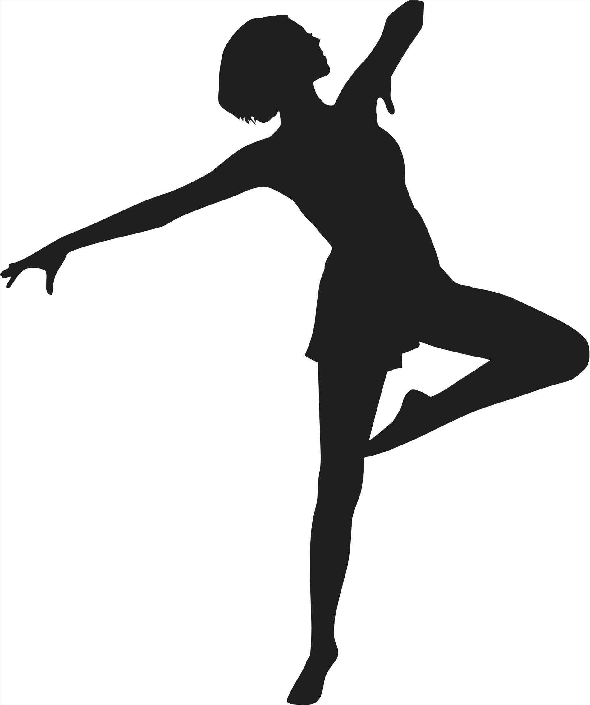 Dancer silhouette at getdrawings. Dancing clipart homecoming dance image freeuse library