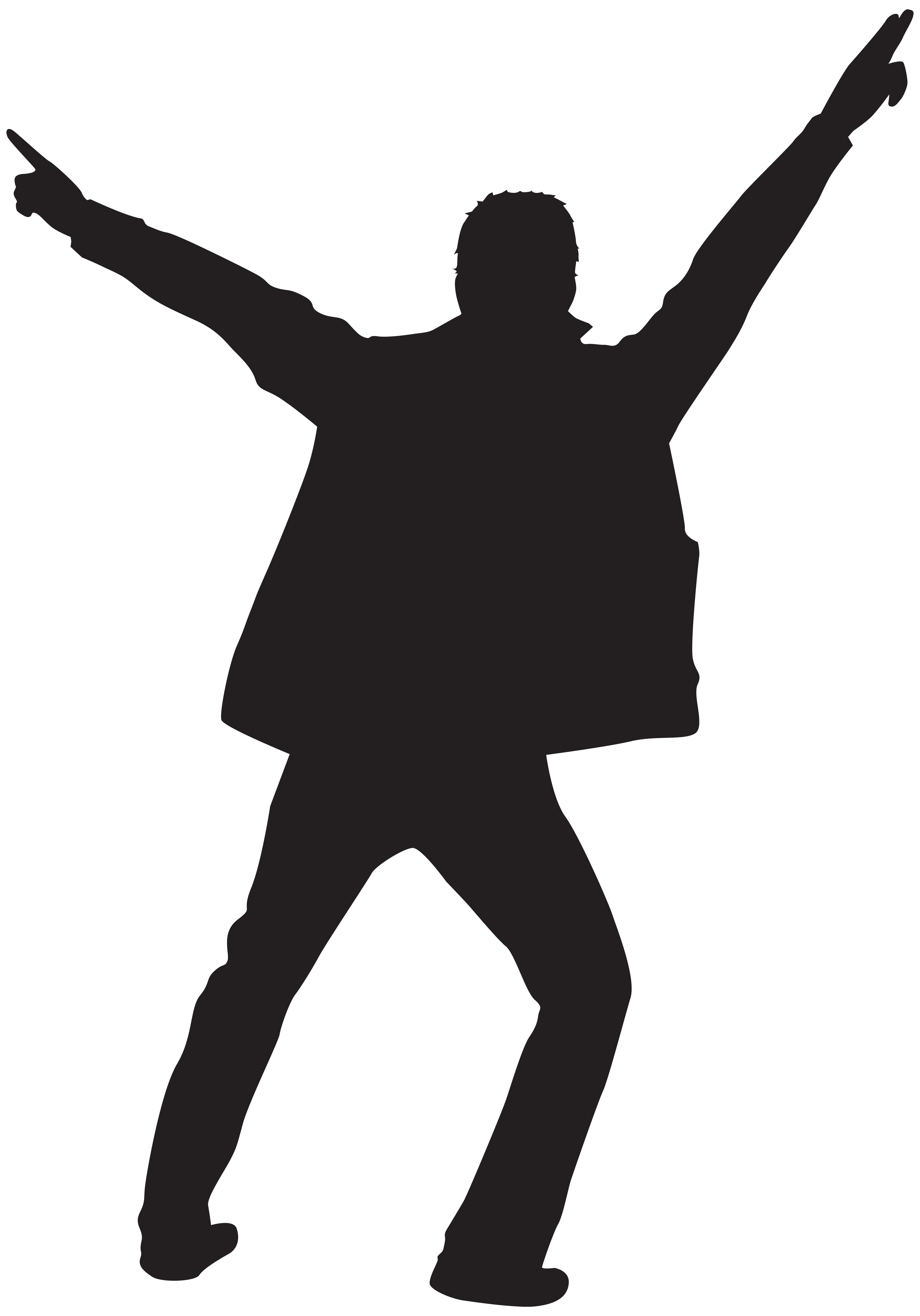 Man silhouette clip art. Dancing clipart png banner black and white download