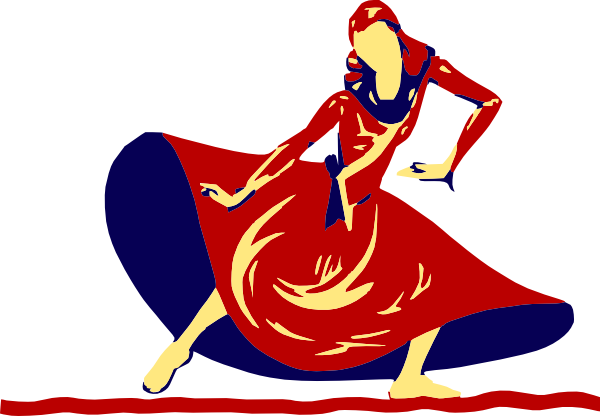 Dancing clipart png. Lady in festival clip