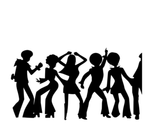 Dancing clipart shadow. Disco clip art at