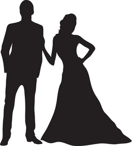 Prom couples . Dancing clipart shadow image royalty free stock