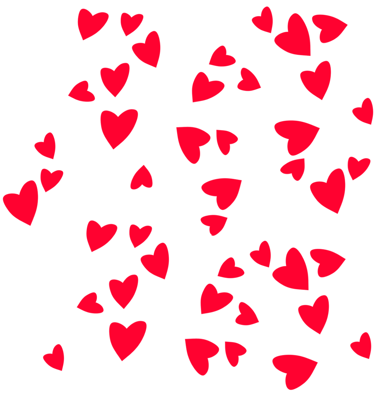 Valentines png. Day hearts decor clipart