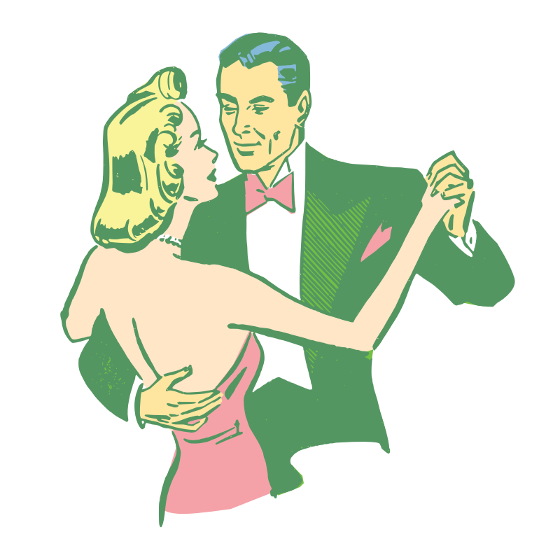 Dancing clipart vintage. Free couple pictures download
