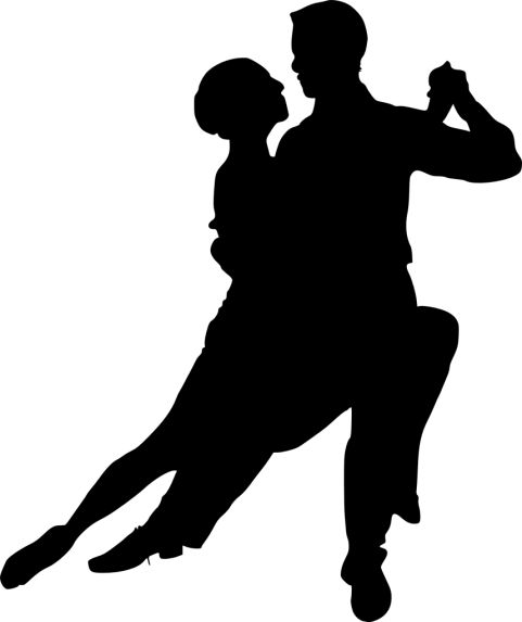 Dancing couple png. Silhouette free images toppng
