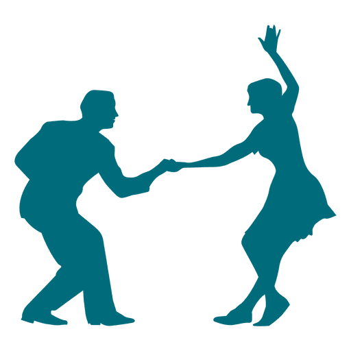 swing dance silhouette png