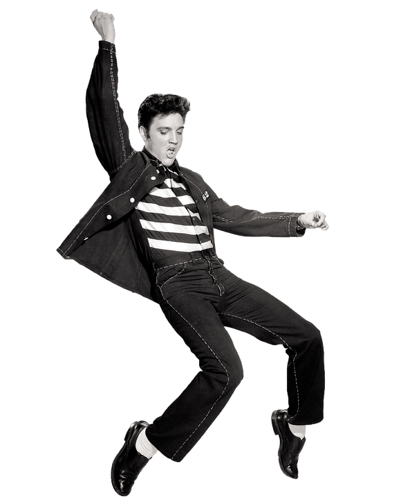 Vintage people png. Dancing elvis presley transparent