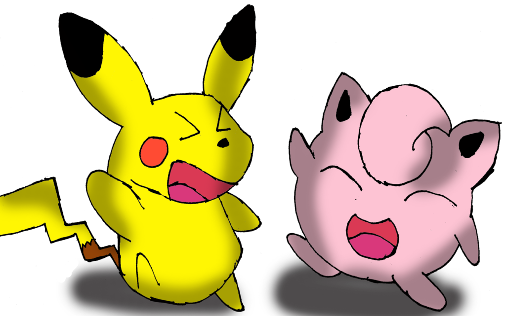 Dancing pikachu png. And jigglypuff by sonicdude
