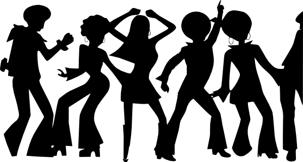 s dancing sihlouettes. Dance clipart dance team free stock