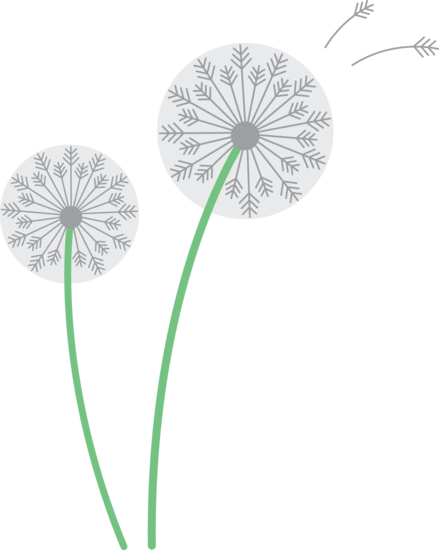 Free cliparts download clip. Dandelion clipart vector graphic black and white