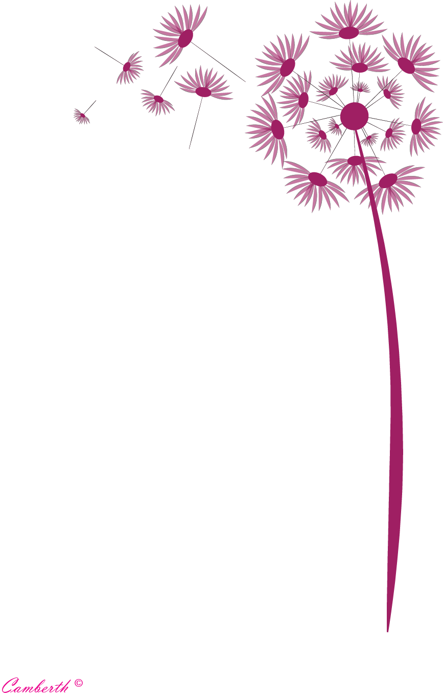 Graphic photoshop og. Dandelion clipart purple png black and white stock