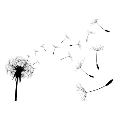 Dandelion clipart vector. Black by greeek on