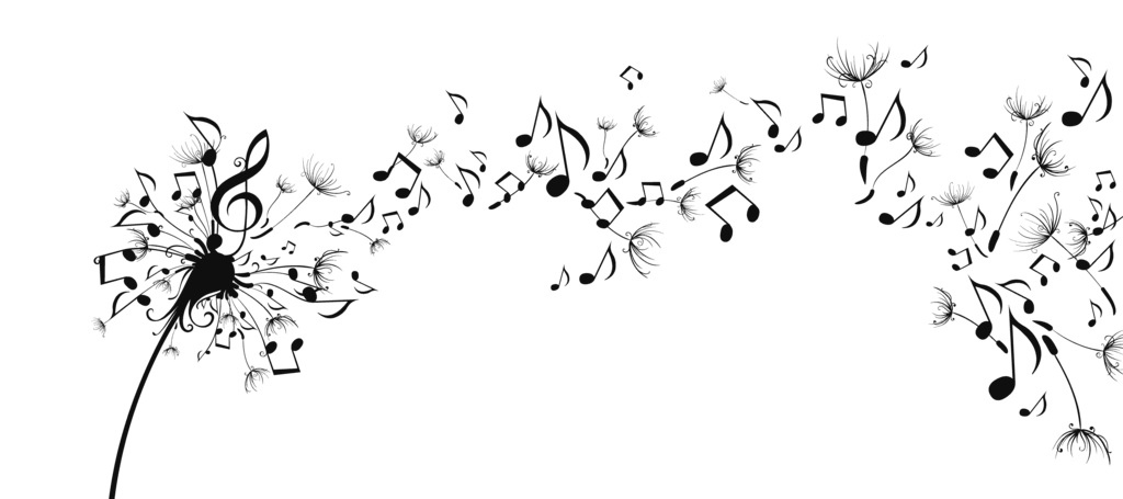 Dandelion music notes png. Musical note in the