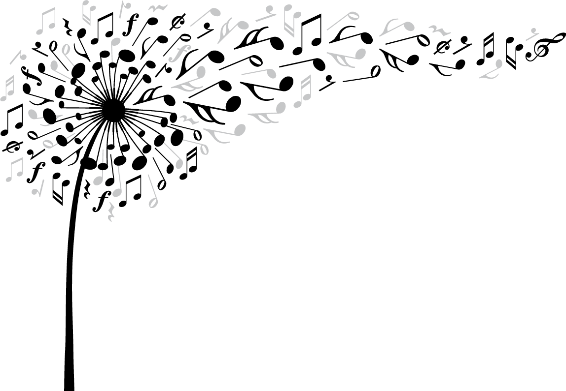 Dandelion music notes png. Musicnotes scmusicalnotes musicalnotes flowe