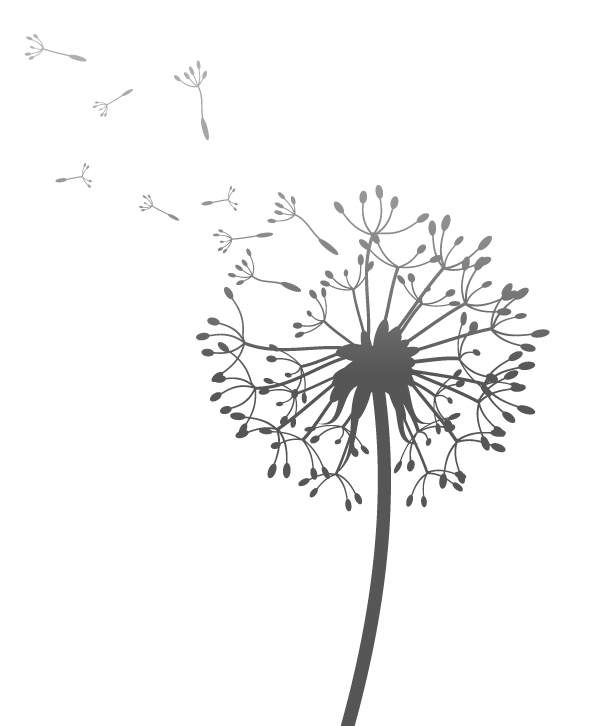 Dandelion transparent black and white. Hayward goodchild counselling services