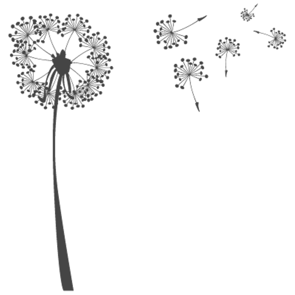 Drawing dandelion cute. Royalty free library