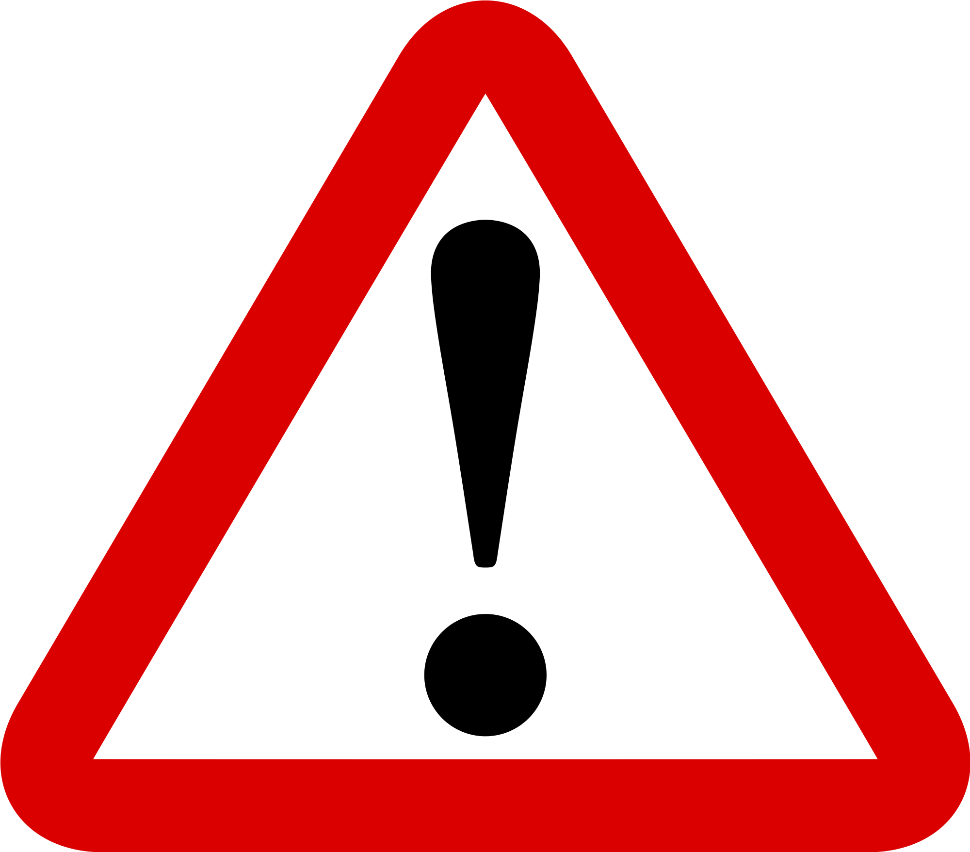 Danger clipart. Free road signs download