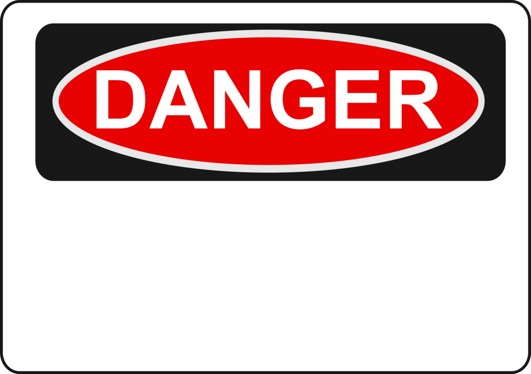 Danger clipart blank yield sign. Warning science and safety