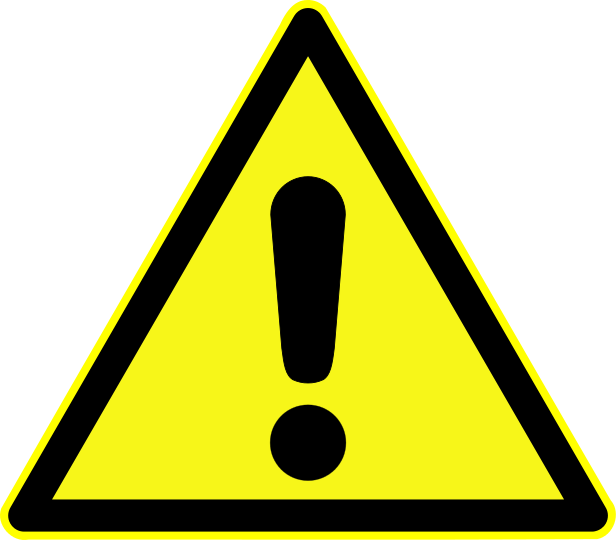 Danger clipart blank yield sign. Warning church camp symbols