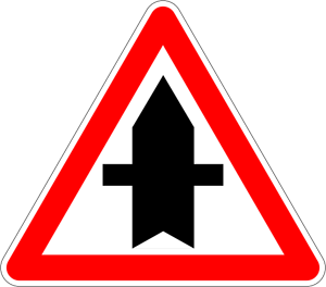 Danger clipart blank yield sign. French road signs meanings
