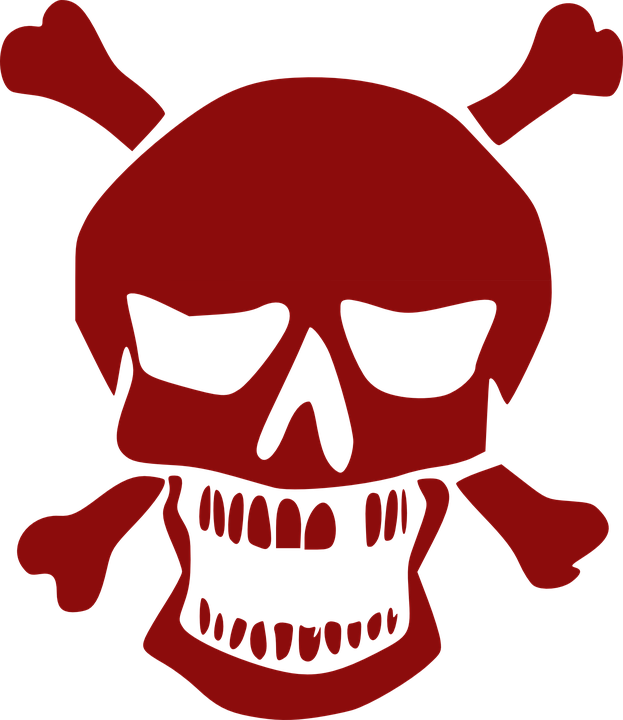 Pirate skull free on. Danger clipart blank yield sign image freeuse