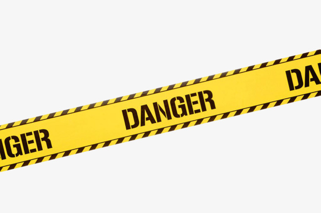 Danger clipart caution tape. Yellow warning belt safety