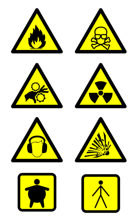 Hazard goods warning sign. Danger clipart dangerous road jpg