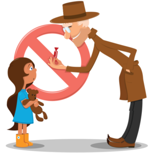 Danger clipart don t talk to stranger. Common myths child lures