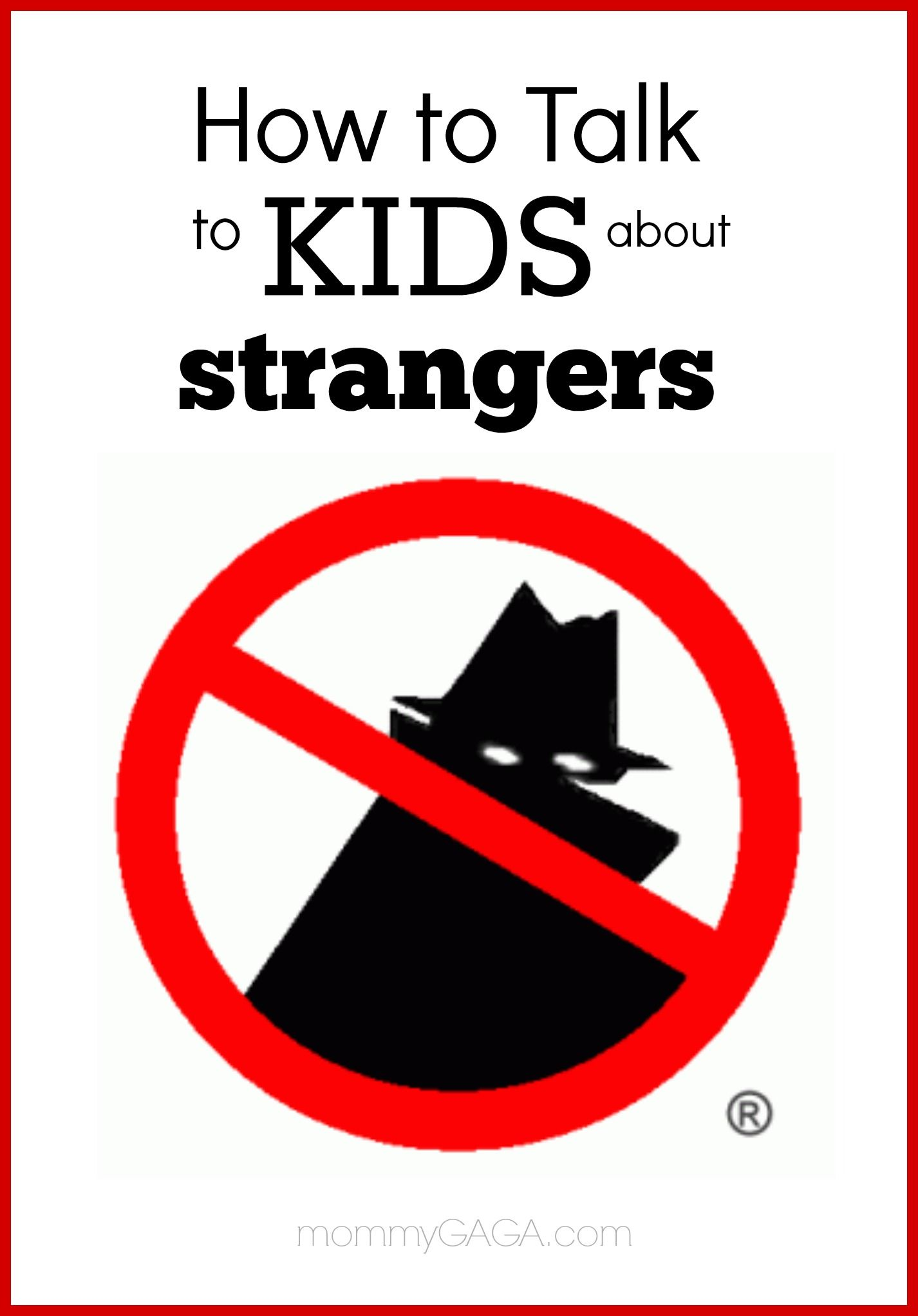 Danger clipart don t talk to stranger. How kids about important