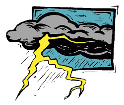 Thunderstorm clipart. Free dangerous weather cliparts