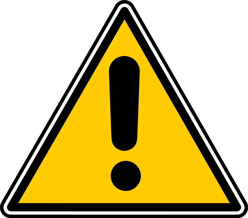Danger clipart scard. Beware group with items