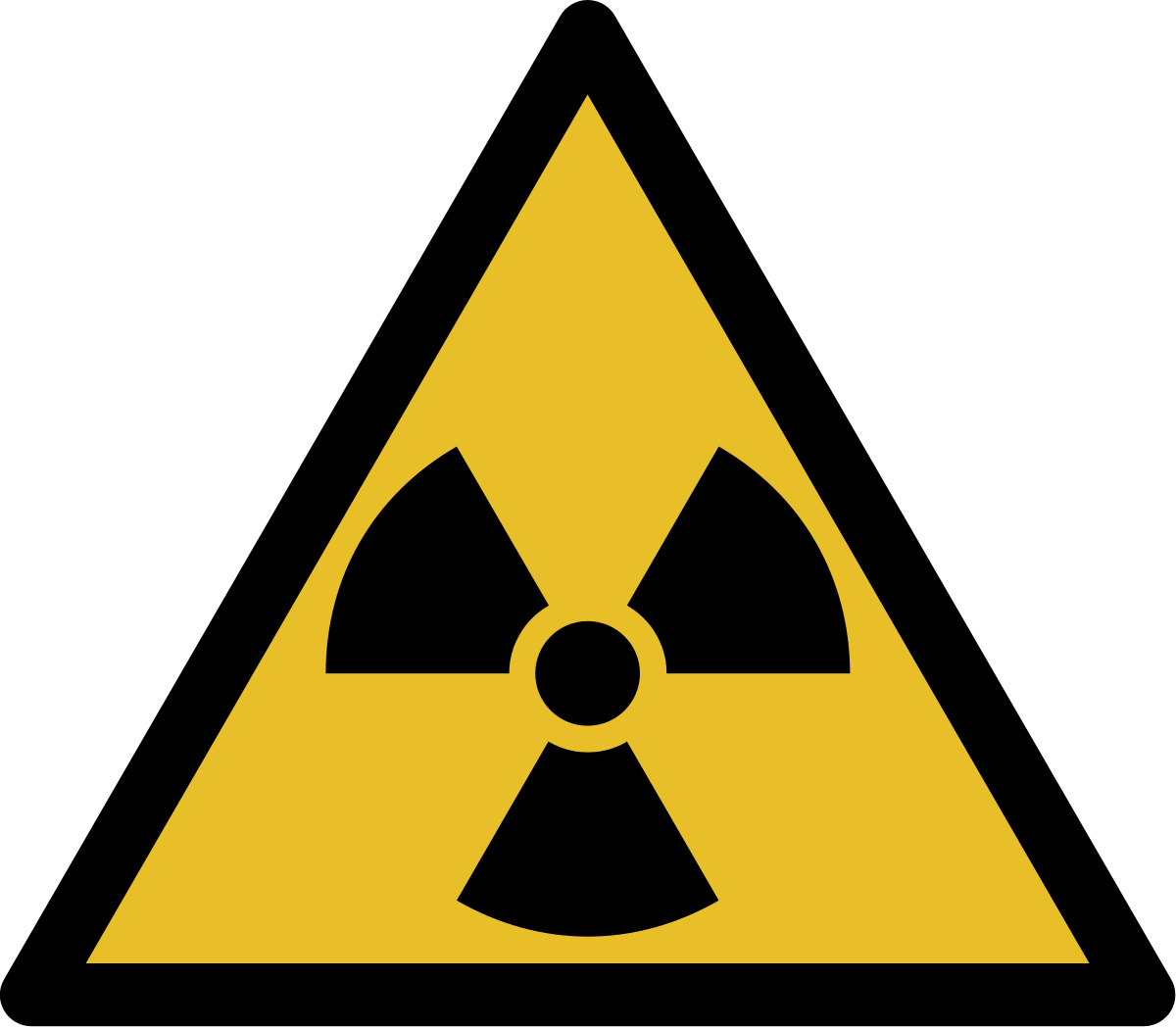 Danger clipart simbol. Ionizing radiation wikipedia