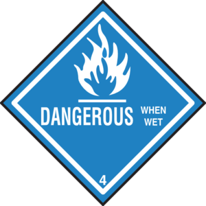 Danger clipart simbol. Dangerous when wet symbol