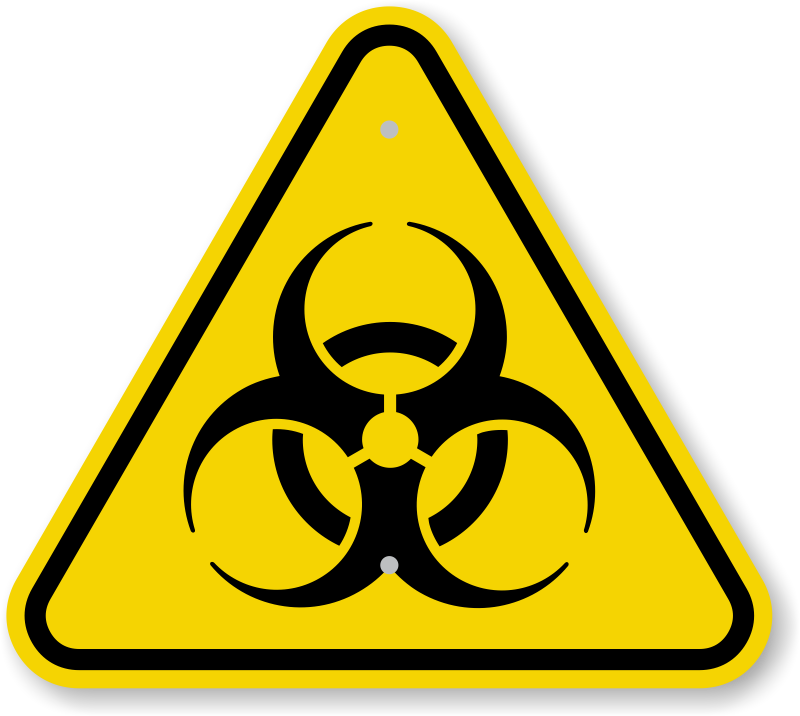 biohazard transparent caution